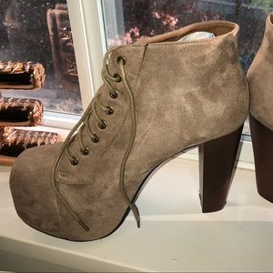 Shoes - Brand new never worn!!! Taupe booties